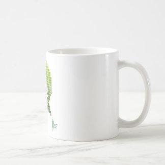 Mojito en la cal taza básica blanca