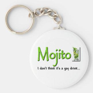 Mojito: ¿No una bebida gay…? Llavero Redondo Tipo Chapa