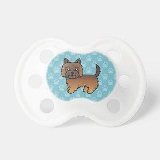 Mojón Brindle rojo Terrier del dibujo animado Chupetes De Bebé