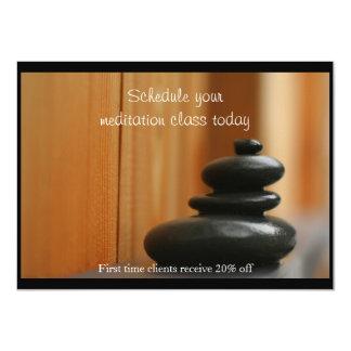 Mojón de las piedras y de la madera del masaje invitación 11,4 x 15,8 cm