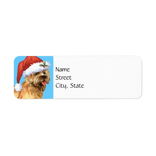 Mojón feliz Terrier de Howlidays Etiquetas De Remite