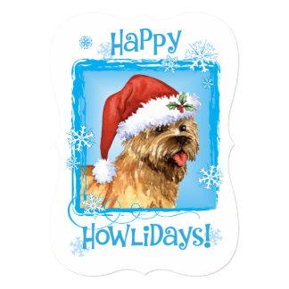 Mojón feliz Terrier de Howlidays Invitación 12,7 X 17,8 Cm