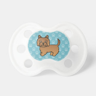 Mojón rojo Terrier del dibujo animado lindo Chupetes De Bebé