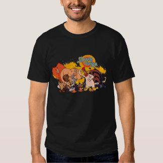 Molde y logotipo Looney de la demostración de los Camiseta