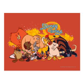 Molde y logotipo Looney de la demostración de los Postal
