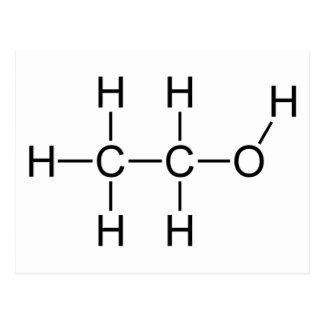 Molécula del alcohol postal