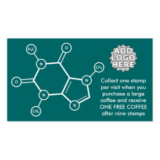 molécula del café (personalizable del color) plantillas de tarjeta de negocio