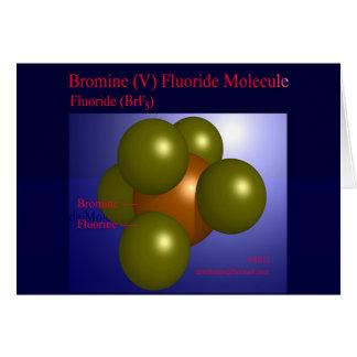 Molécula del fluoruro del bromo (v) (tarjeta)