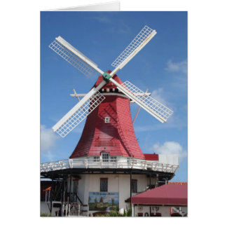 Molino de viento de Aruba Tarjeta