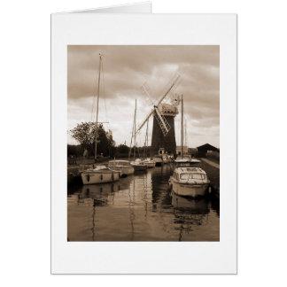 Molino de viento de caballo, el Broads, Norfolk Tarjeta