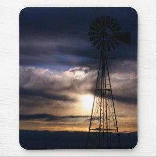 Molino de viento de New México Alfombrilla De Ratón