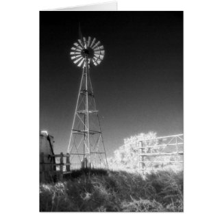 Molino de viento de Tejas Tarjeta