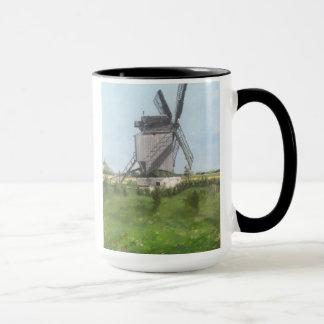 molino de viento en Holanda Taza