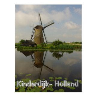 Molino de viento en Kinderdijk Postal