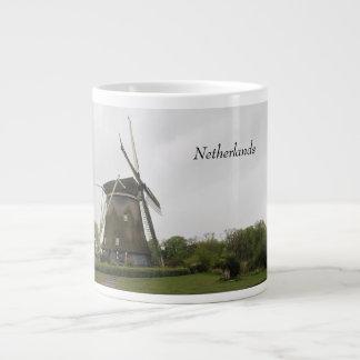 Molino de viento, Holanda, Países Bajos, Taza De Café Grande