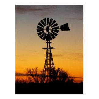 Molino de viento occidental postal