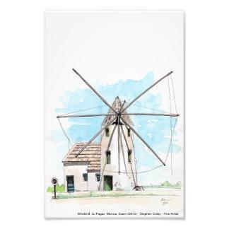 Molino de viento, Pagan de Lo, Murcia, España Impresiones Fotograficas