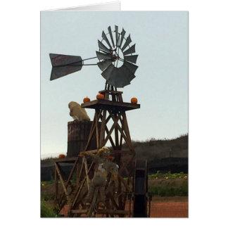 Molino de viento tarjeta