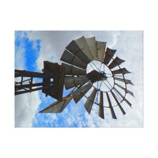 Molino de viento viejo lienzo