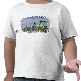 Molino de viento, Zaanse Schans, Holanda, Países Camisetas