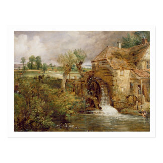 Molino en Gillingham, Dorset, 1825-26 (aceite en Postal