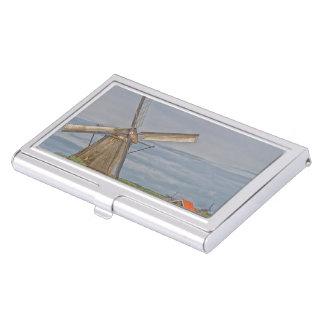 molinoes de viento del sitio del patrimonio cajas de tarjetas de presentación