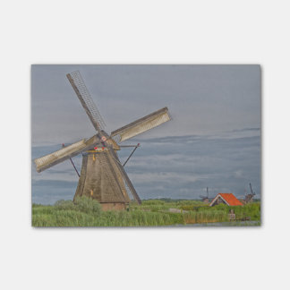molinoes de viento del sitio del patrimonio notas post-it®