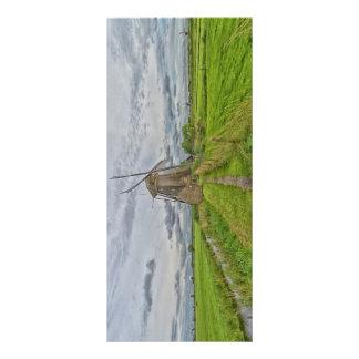 molinoes de viento del sitio del patrimonio plantilla de lona