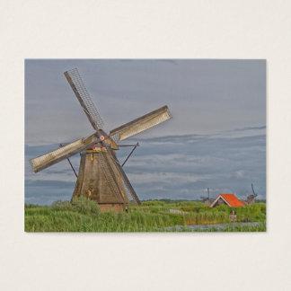 molinoes de viento del sitio del patrimonio tarjeta de negocios
