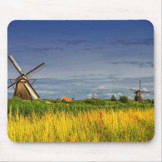 Molinoes de viento en Kinderdijk, Holanda, Países Alfombrilla De Ratón