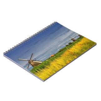 Molinoes de viento en Kinderdijk, Holanda, Países Libros De Apuntes