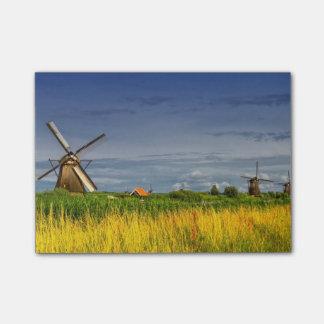 Molinoes de viento en Kinderdijk, Holanda, Países Notas Post-it®