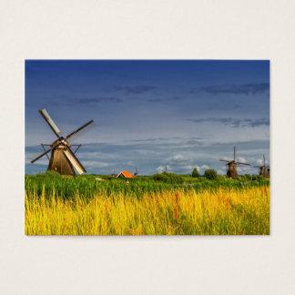 Molinoes de viento en Kinderdijk, Holanda, Países Tarjeta De Negocios