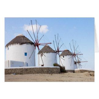 Molinoes de viento en Mykonos Tarjeta