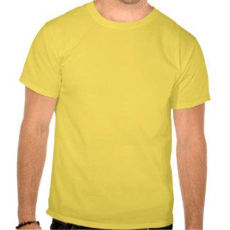 Mollete del perno prisionero en amarillo camisetas