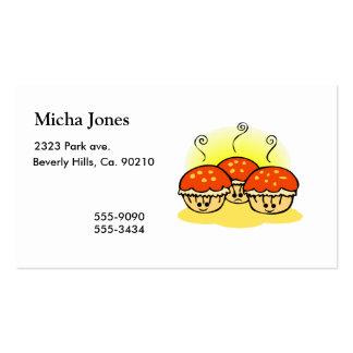Molletes tristes felices felices tarjeta de negocio