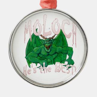 Moloch:  ¡Él es el MEJOR! Adorno Navideño Redondo De Metal