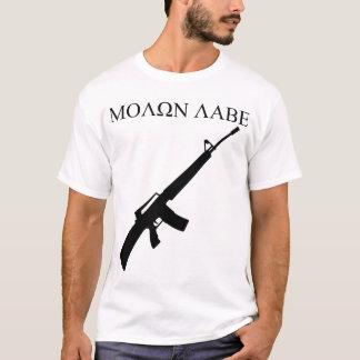 ¡MOLON LABE! (Gráficos negros) Camiseta