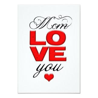 Mom Love you /  Happy Mother's Day Invitacion Personalizada
