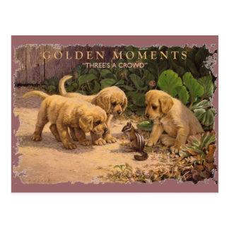 Momentos-Tres DE ORO una muchedumbre Postales