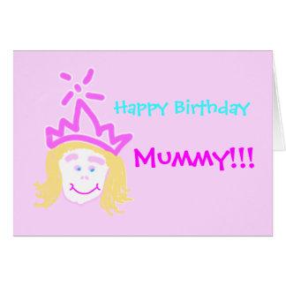 Momia de la tarjeta y del verso de cumpleaños de l
