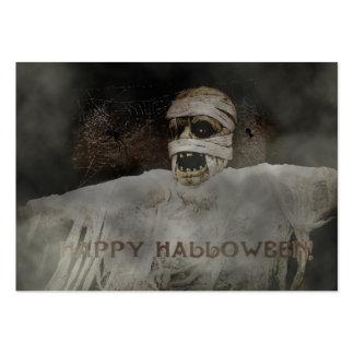 Momia del feliz Halloween Tarjetas Personales