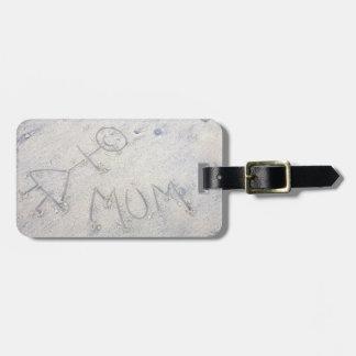Momia en la etiqueta de la mujer del palillo de la