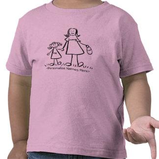 Momia y yo - la madre y la hija personalizan la camisetas