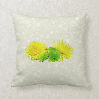 Momias amarillas y verdes cojín decorativo