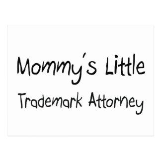 Mommys poco abogado de la marca registrada tarjetas postales