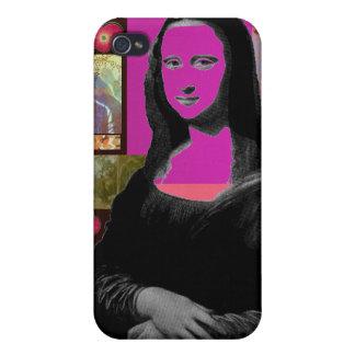 Mona Lisa abstracta iPhone 4/4S Carcasas