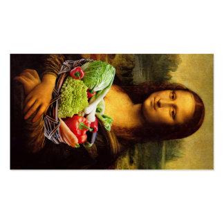 Mona Lisa ama verduras Tarjetas De Visita