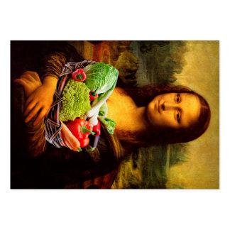 Mona Lisa ama verduras Tarjetas De Visita Grandes