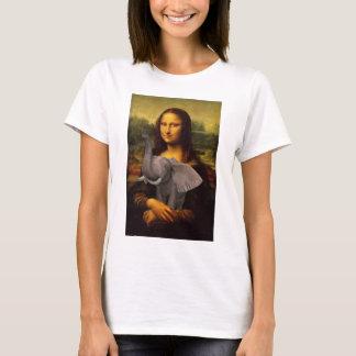 Mona Lisa con el elefante Camiseta